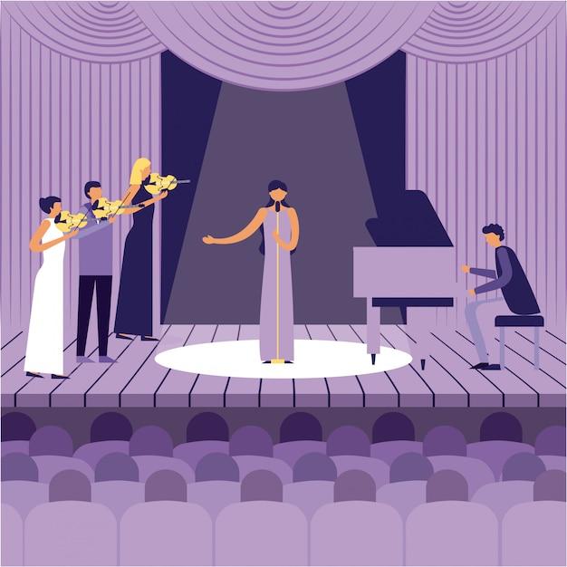 Народный фестиваль джаза Бесплатные векторы
