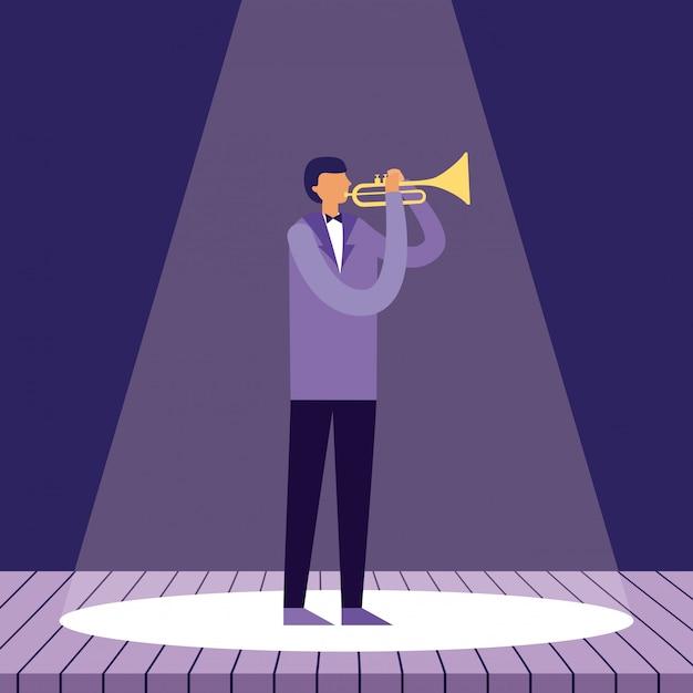 音楽人楽器 無料ベクター
