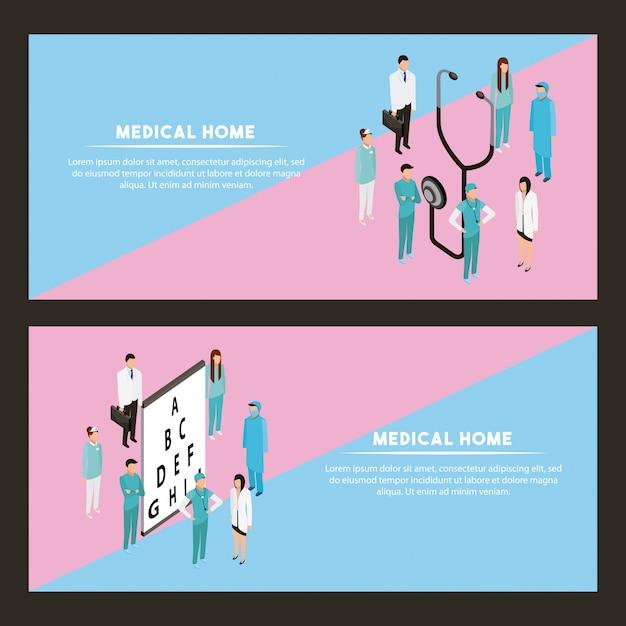 Здоровье медицинских людей Бесплатные векторы