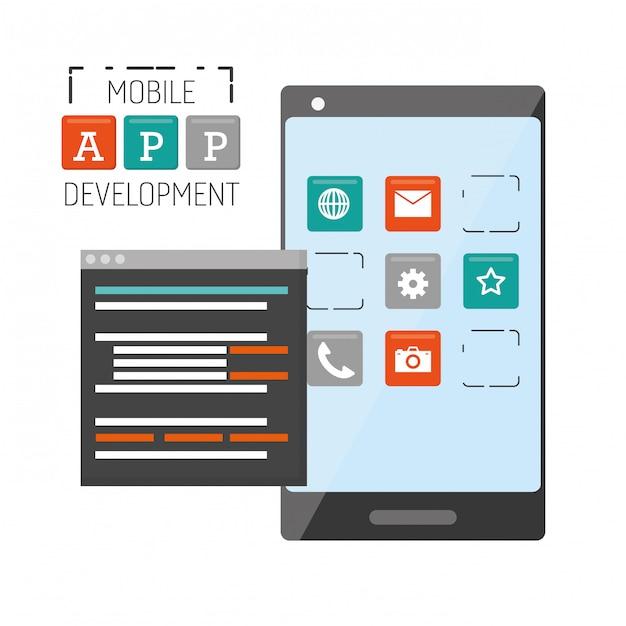 Разработка мобильных приложений Бесплатные векторы