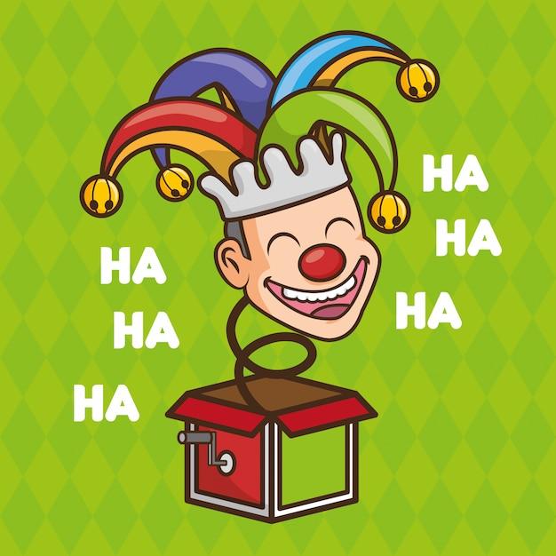 エイプリルフールの日のおもちゃの道化師 無料ベクター