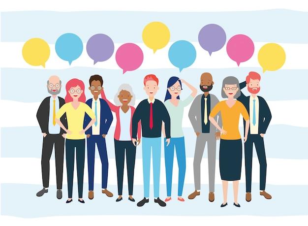 多様性ビジネスの男性と女性 無料ベクター