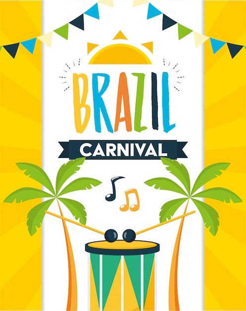 ブラジルのカーニバルフェスティバル 無料ベクター