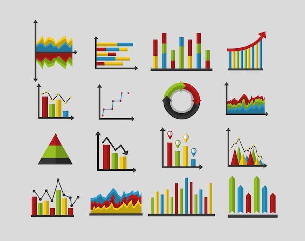 Набор статистических данных анализа Бесплатные векторы