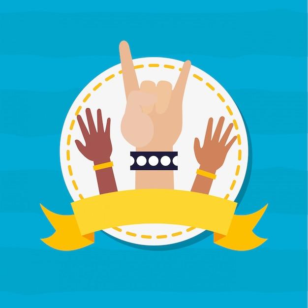 Счастливого дня молодежи руками Бесплатные векторы
