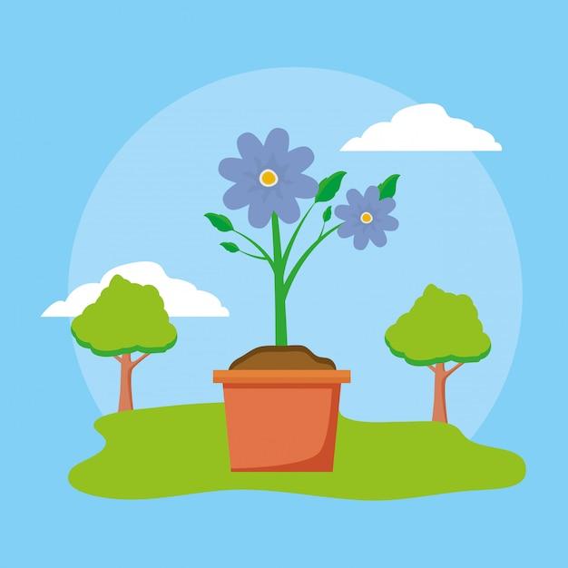 Цветок в горшке Бесплатные векторы