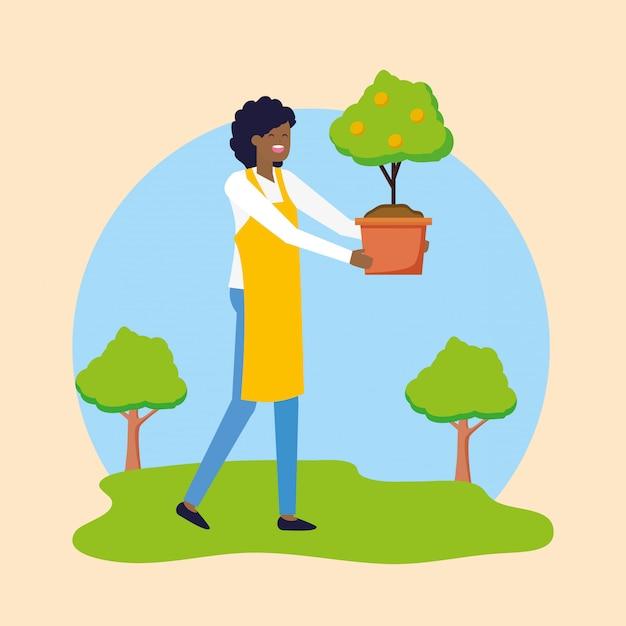 Садовая концепция Бесплатные векторы