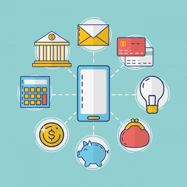 オンライン支払い要素コレクション 無料ベクター