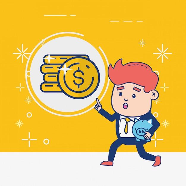 Человек онлайн-банкинга Бесплатные векторы