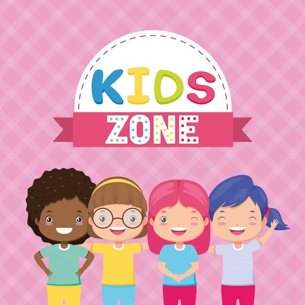Детская зона фон Бесплатные векторы