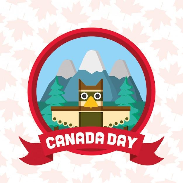 Счастливый день канады Бесплатные векторы