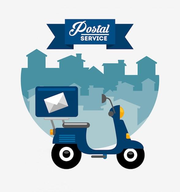 Дизайн почтовой службы Бесплатные векторы