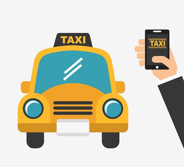 アプリタクシーサービス 無料ベクター
