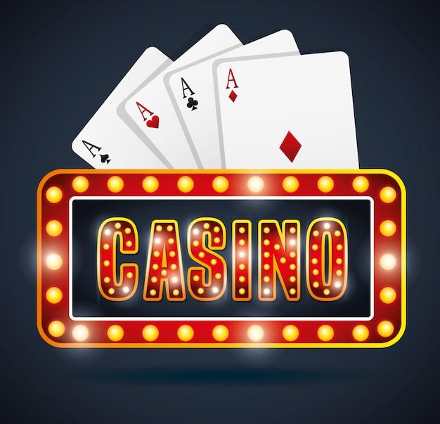 カジノゲームデザイン 無料ベクター