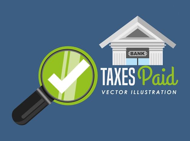 税の時間設計 無料ベクター