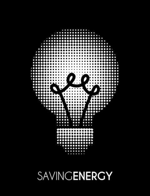 黒の背景上の電球 無料ベクター