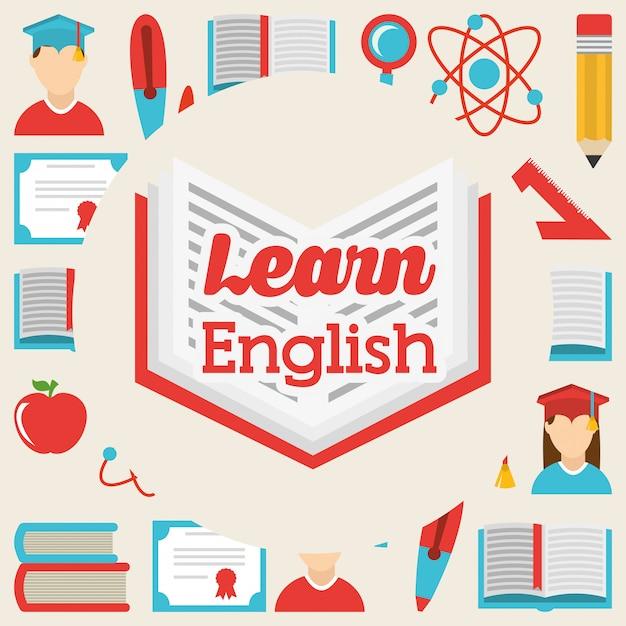 英語のデザインを学ぶ 無料ベクター
