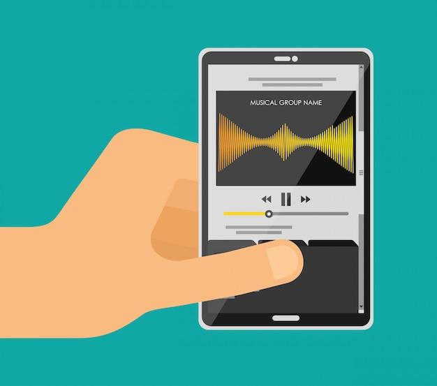 Играть музыку с мобильного Бесплатные векторы