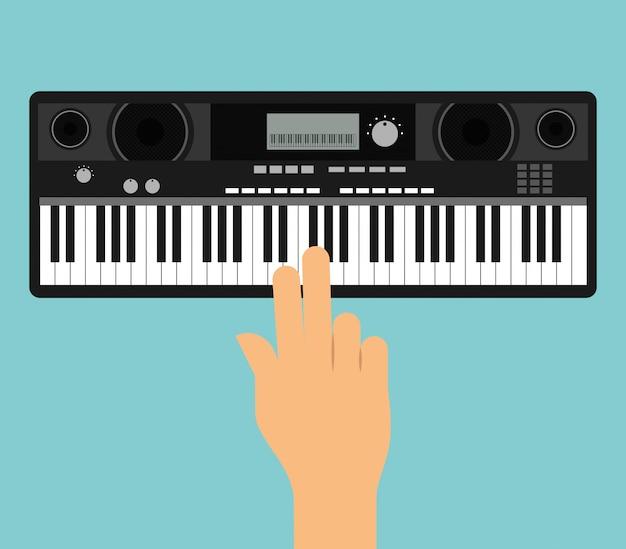 Ручная игра на пианино Бесплатные векторы