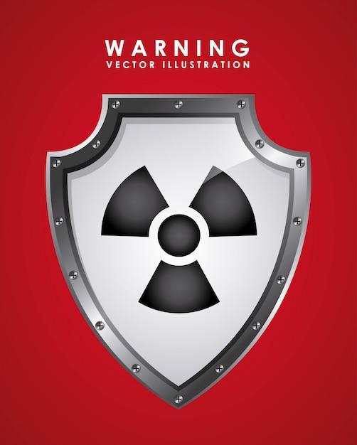 Предупреждающий сигнал над красным Бесплатные векторы