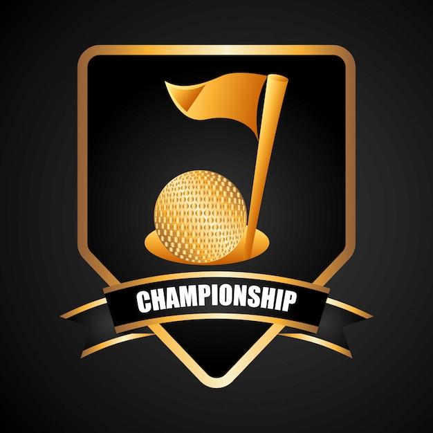 ゴルフ選手権デザイン 無料ベクター