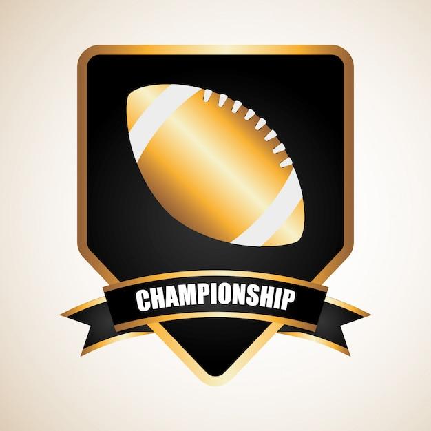 アメリカンフットボールのデザイン 無料ベクター