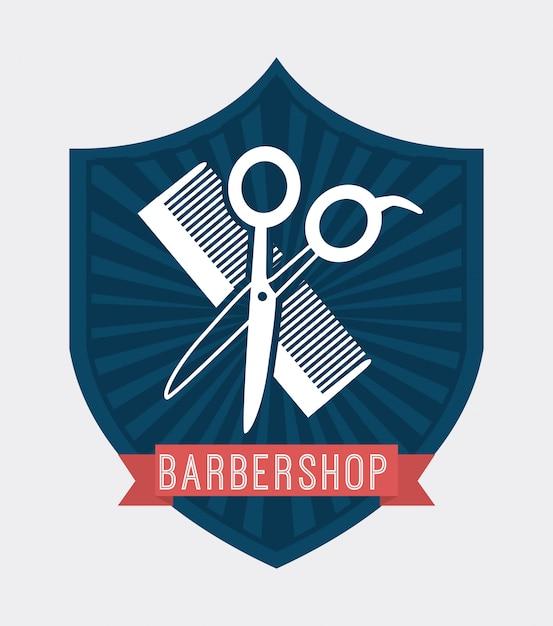 理髪店のロゴタイプ 無料ベクター