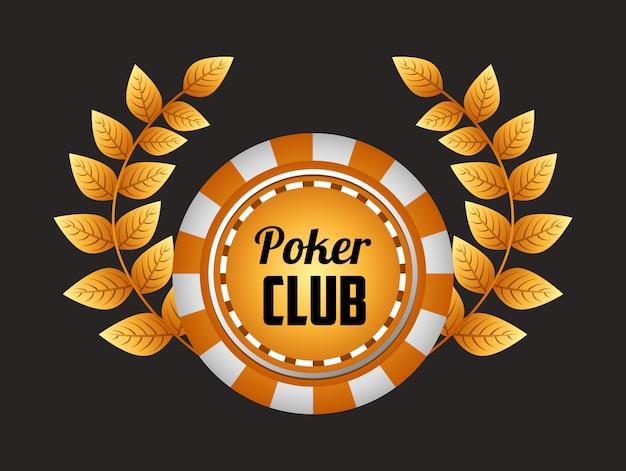 Иллюстрация покерного клуба Бесплатные векторы
