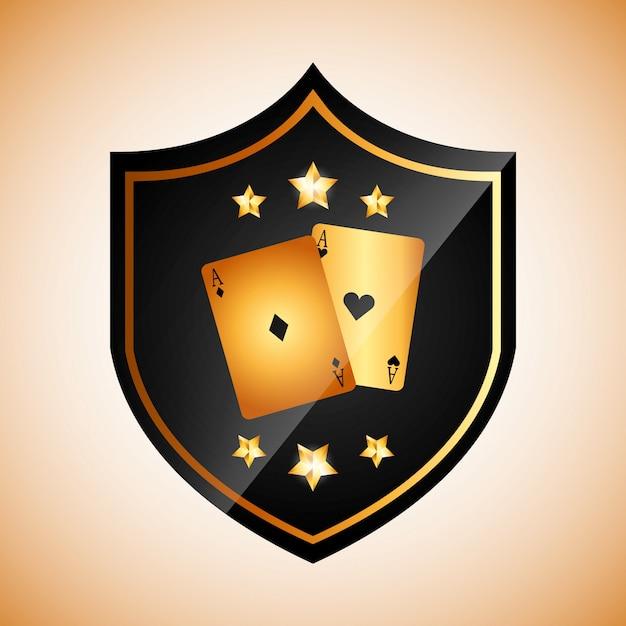 カジノクラブのロゴタイプ 無料ベクター
