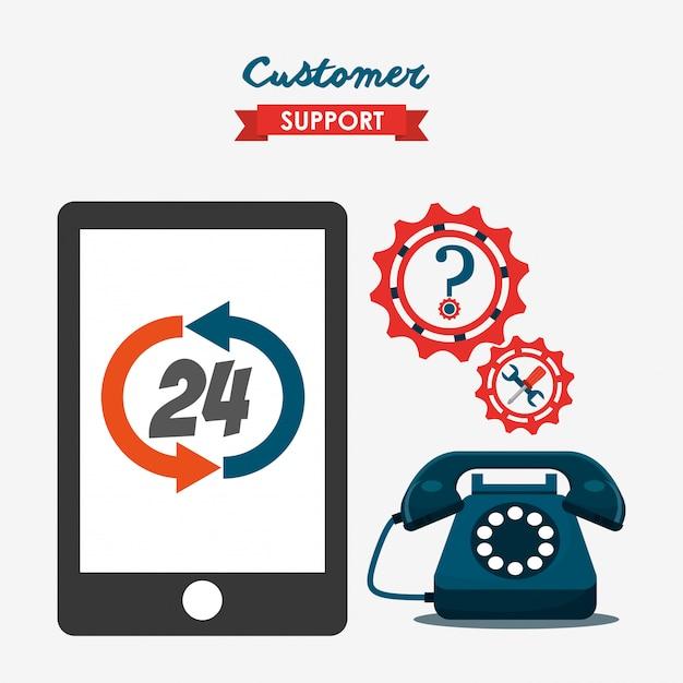 Иллюстрация обслуживания клиентов Бесплатные векторы