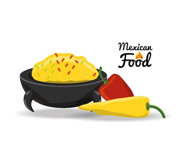 唐辛子メキシコの伝統的な食べ物 Premiumベクター
