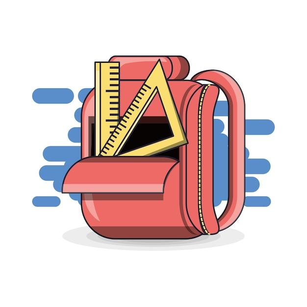 カラフルな学校のバックパックの教育のコンセプト Premiumベクター