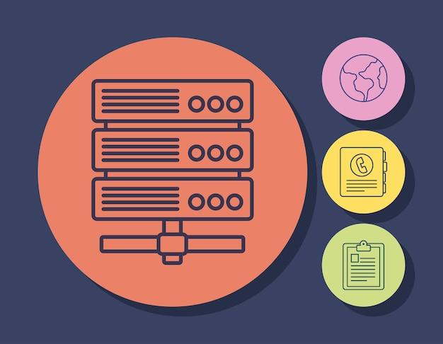 デジタルマーケティングデザイン Premiumベクター