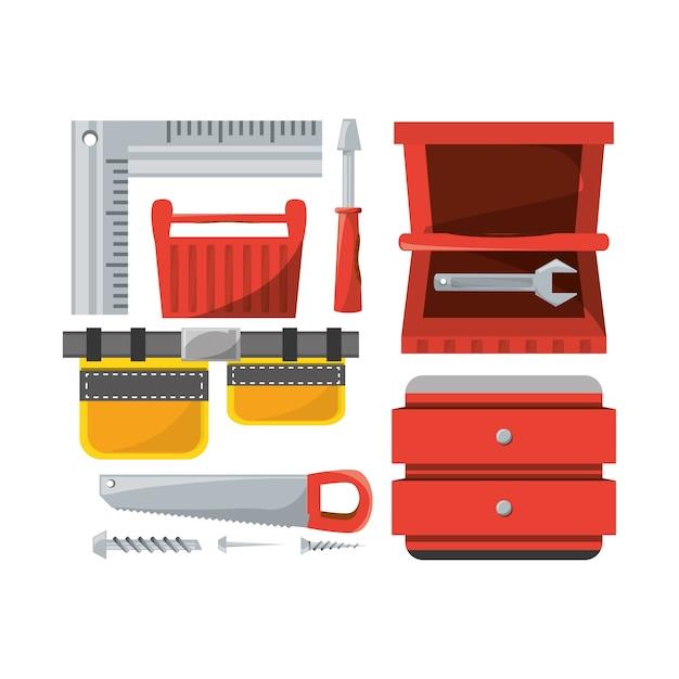 Установка инструмента и ремонт оборудования Premium векторы