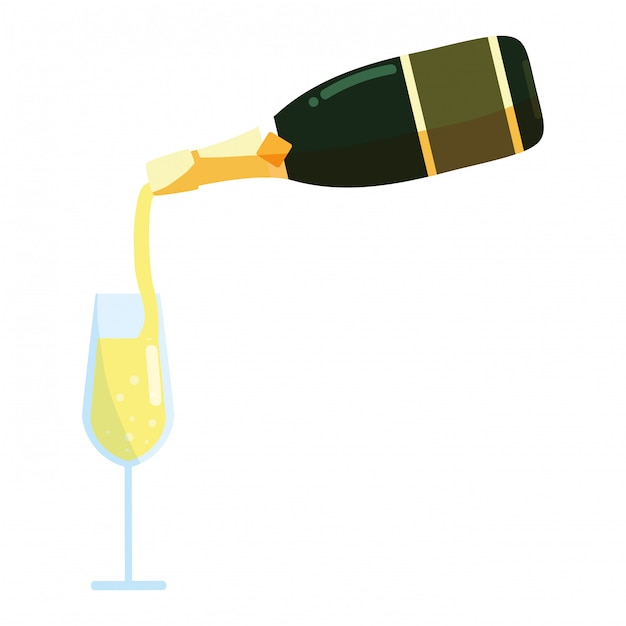シャンパンボトルのアイコン Premiumベクター