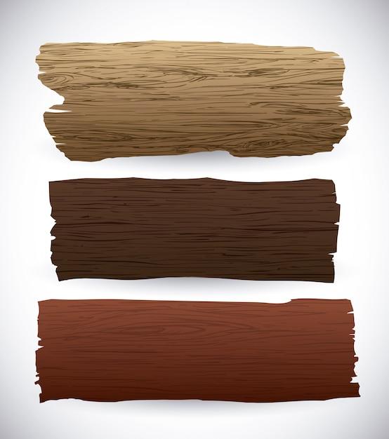 Деревянный дизайн. Premium векторы