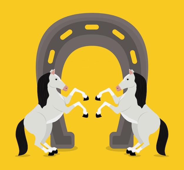 Лошадь дизайн иллюстрация Premium векторы