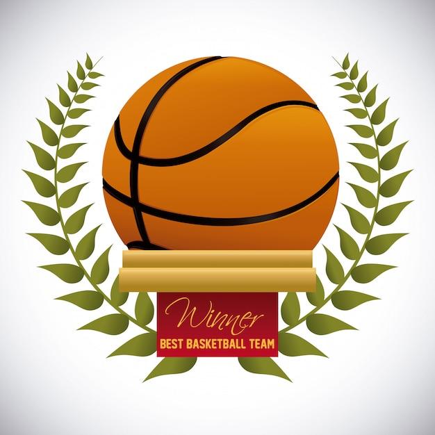 バスケットボールデザイン Premiumベクター