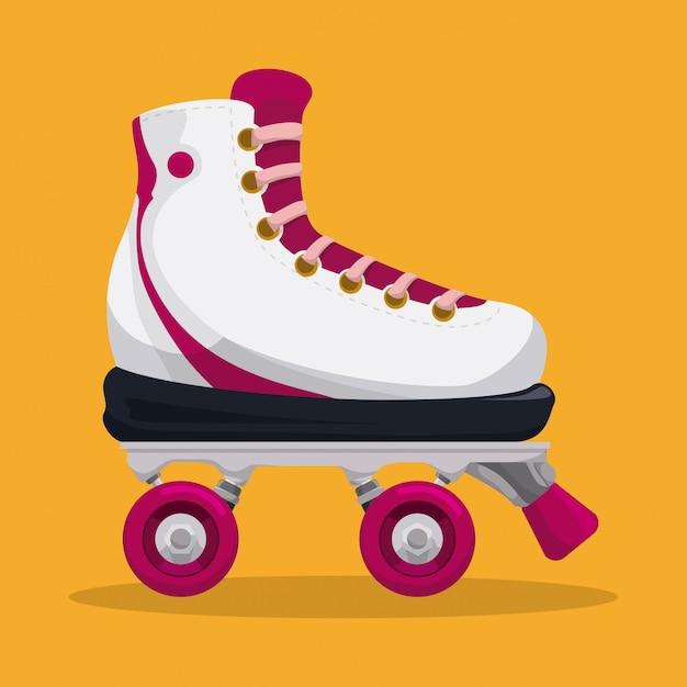 スケートデザイン。 Premiumベクター