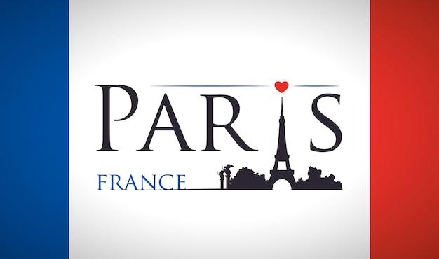Париж достопримечательности дизайн Premium векторы