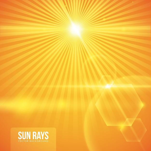太陽光線のデザイン Premiumベクター