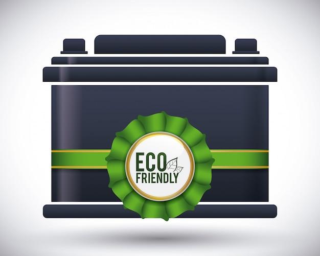 電池の設計をリサイクルする。 Premiumベクター