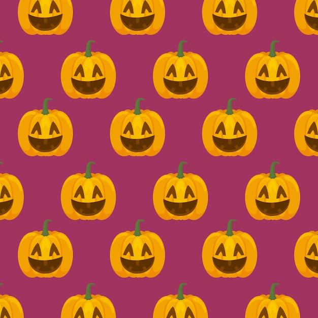 ハロウィーンのお祝いパターン 無料ベクター