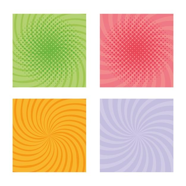 バーストパターンの色を設定 Premiumベクター