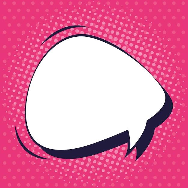 Речи пузырь в стиле поп-арт Premium векторы