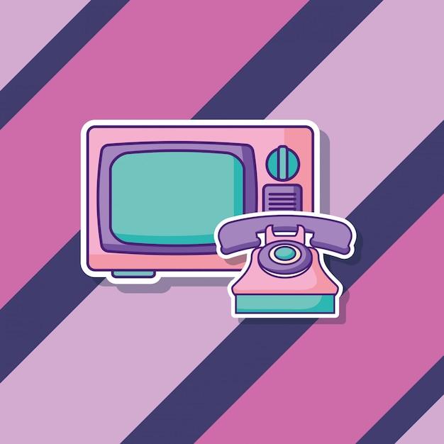 レトロテレビ Premiumベクター