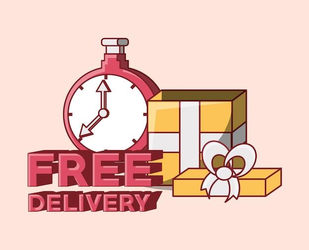 Бесплатная доставка Premium векторы