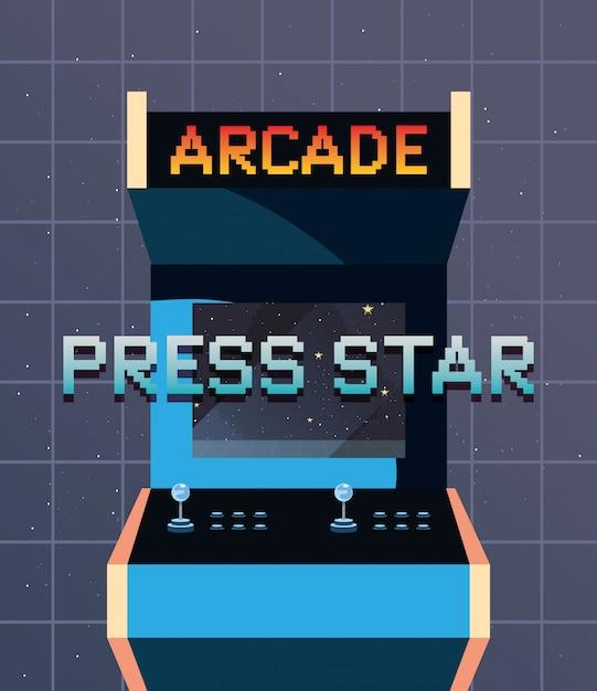 ビデオゲームのレトロな小話 Premiumベクター