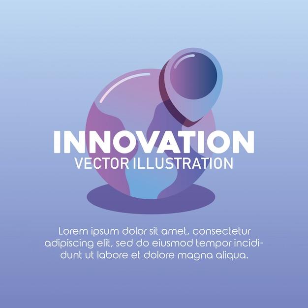 Инновационные технологии изображения Premium векторы