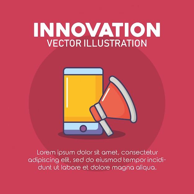 イノベーション技術イメージ Premiumベクター